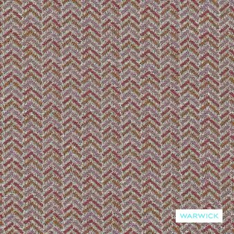 Warwick - Brady Coral  | Upholstery Fabric - Burgundy, Red, Transitional, Chevron, Zig Zag, Domestic Use, Herringbone, Railroaded, Standard Width