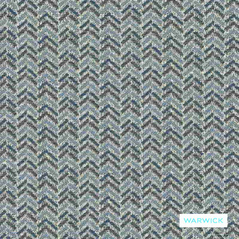Warwick - Brady Ocean  | Upholstery Fabric - Blue, Transitional, Chevron, Zig Zag, Domestic Use, Herringbone, Railroaded, Standard Width