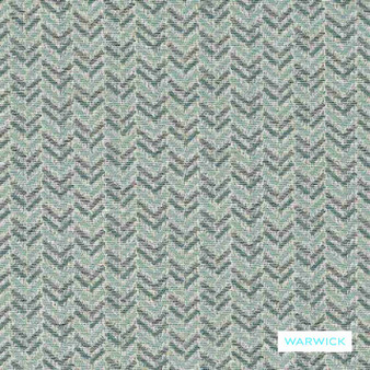 Warwick - Brady Seaglass  | Upholstery Fabric - Grey, Transitional, Turquoise, Teal, Chevron, Zig Zag, Domestic Use, Herringbone, Railroaded, Standard Width