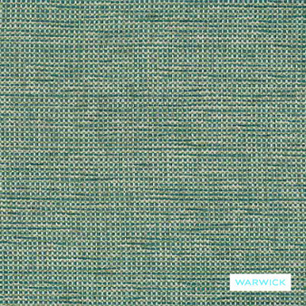 Warwick - Berge Lagoon  | Upholstery Fabric - Plain, Domestic Use, Plain - Textured Weave, Railroaded, Standard Width