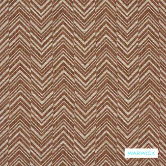 Warwick - Costa Terracotta  | Upholstery Fabric - Brown, Terracotta, Traditional, Railroaded, Transitional, Chevron, Zig Zag, Herringbone, Pattern