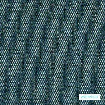 Warwick - Kumi Teal  | Upholstery Fabric - Blue, Plain, Geometric, Turquoise, Teal, Domestic Use, Plain - Textured Weave, Railroaded, Strie