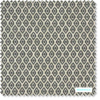 Warwick - Romano Bluestone  | Upholstery Fabric - Geometric, Tan, Taupe, Traditional, Transitional, Commercial Use, Diamond - Harlequin, Railroaded, Standard Width