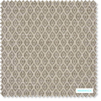 Warwick - Romano Linen  | Upholstery Fabric - Beige, Geometric, Traditional, Transitional, Commercial Use, Diamond - Harlequin, Railroaded, Standard Width