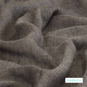 Warwick - Vanuatu Flint  | Curtain Sheer Fabric - Grey, Plain, Washable, Domestic Use, Herringbone, Plain - Textured Weave, Railroaded, Wide Width