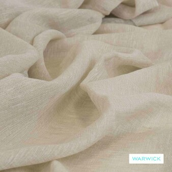 Warwick - Vanuatu Sand  | Curtain Sheer Fabric - Beige, Plain, Washable, Domestic Use, Herringbone, Plain - Textured Weave, Railroaded, Wide Width