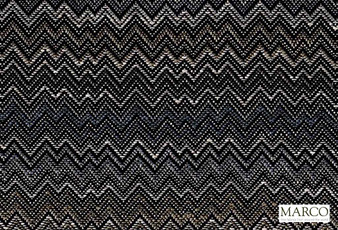 Marco Fabrics - Ziggy Graphite  | Curtain & Upholstery fabric - Black, Charcoal, Mediterranean, Moroccan, Railroaded, Chevron, Zig Zag, Pattern