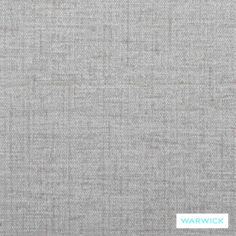 Warwick Verona Silver Birch  | Upholstery Fabric - Grey, Plain, White, Synthetic, Transitional, Washable, Commercial Use, White, Standard Width
