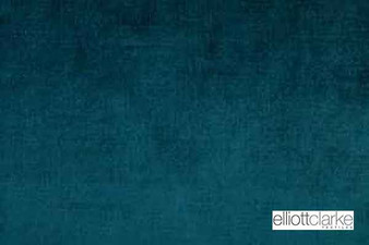 Elliott Clarke - Brugge - Peacock    Curtain & Upholstery fabric - Blue, Fire Retardant, Plain, Synthetic, Commercial Use, Dry Clean, Standard Width
