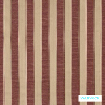 Warwick Winslow Eastbourne Bordeaux  | Curtain & Upholstery fabric - Brown, Fibre Blends, Stripe, Traditional, Washable, Domestic Use, Standard Width