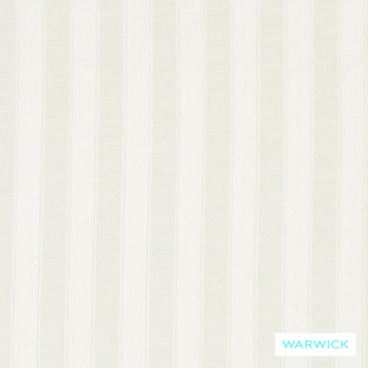 Warwick Winslow Eastbourne Ivory  | Curtain & Upholstery fabric - White, Fibre Blends, Linen and Linen Look, Stripe, Traditional, Washable, Domestic Use, Natural, White