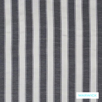 Warwick Winslow Eastbourne Onyx  | Curtain & Upholstery fabric - Black - Charcoal, Fibre Blends, Stripe, Traditional, Washable, Domestic Use, Standard Width