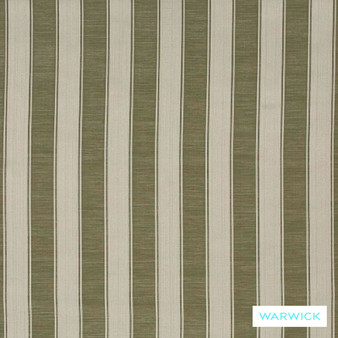 Warwick Winslow Eastbourne Sage  | Curtain & Upholstery fabric - Fibre Blends, Stripe, Traditional, Washable, Domestic Use, Standard Width