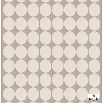 Houles - 72878 Chorus Fabric - 9030  | Curtain Fabric - Beige, Natural Fibre, Domestic Use, Dots, Spots, Natural, Standard Width, Circles