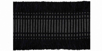 Houles - 32242 Ebony Braid - 9900  | Gimps & Braids, Curtain & Upholstery Trim - Black - Charcoal, Deco, Decorative, Synthetic, Washable, Domestic Use