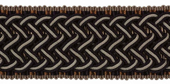 Houles - 32421 Marly Braid 45mm - 9900  | Gimps & Braids, Curtain & Upholstery Trim - Brown, Deco, Decorative, Fibre Blends, Washable, Domestic Use