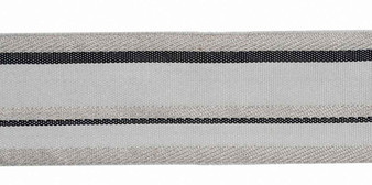 Houles - 32626 Onyx Metallic Braid 50 - 9920  | Gimps & Braids, Curtain & Upholstery Trim - Grey, Deco, Decorative, Synthetic, Washable, Domestic Use