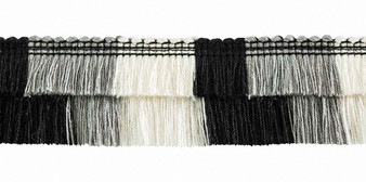 Houles - 33003 Gallery Cutfringe - 9910  | Fringe, Curtain & Upholstery Trim - Brown, White, Deco, Decorative, Synthetic, Washable, Domestic Use, White