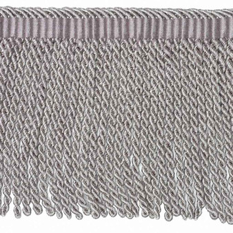 Houles - 33113 Galliera Beaded Fringe 12mm - 9940    Fringe, Curtain & Upholstery Trim - Grey, Silver, Deco, Decorative, Fibre Blends, Washable, Domestic Use