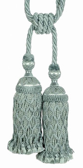 Houles - 35294 Valmont Tassel Tieback - 9620  | Tie back, Curtain Accessory - Washable, Green, Decorative, Trimmings, Tie-Back, Fibre Blend
