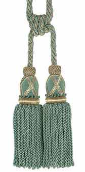 Houles - 35483 Les Marquises Tassel Tieback - 9760  | Tie back, Curtain Accessory - Washable, Green, Decorative, Trimmings, Tie-Back, Fibre Blend