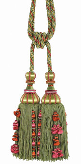 Houles - 35714 Antica Tassel Tieback - 9750    Tie back, Curtain Accessory - Washable, Green, Red, Decorative, Trimmings, Tie-Back, Fibre Blend