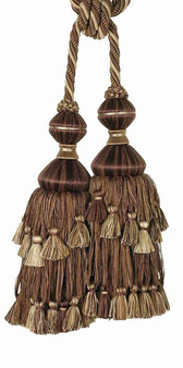 Houles - 35726 Villandry 2 Tassel Tieback - 9920  | Tie back, Curtain Accessory - Washable, Brown, Decorative, Trimmings, Tie-Back, Fibre Blend