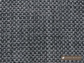 James Dunlop Padova - Pewter  | Upholstery Fabric - Fire Retardant, Plain, Black - Charcoal, Synthetic, Washable, Commercial Use, Dry Clean, Textured Weave, Standard Width