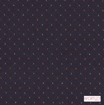 Wortley Group Hathaway Navy  | Upholstery Fabric - Diaper, Foulard, Pattern, Pink, Purple, Small Scale, Synthetic, Commercial Use, Diamond - Harlequin, Standard Width
