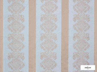 Ardecora - Galleria - 15386.684  | Curtain Fabric - Blue, Grey, Stripe, Damask, Rococo, Fibre Blend, Standard Width