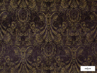 Ardecora - Novecento - 15383.196  | Upholstery Fabric - Black, Charcoal, Brown, Pink, Purple, Traditional, Damask, Rococo, Fibre Blend, Standard Width