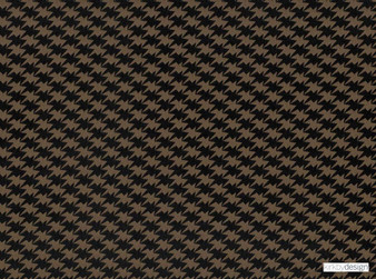 Kirkby Design - Zig Zag Birds Espresso  | Curtain & Upholstery fabric - Brown, Dry Clean, Geometric, Check, Chevron, Zig Zag, Houndstooth, Small Scale