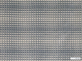 Kirkby Design - Domino Pyramid Concrete  | Upholstery Fabric - Grey, Dry Clean, Geometric, Velvets, Small Scale, Fibre Blend, Standard Width