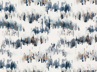 Villa Nova - Norrland Indigo    Curtain & Upholstery fabric - Washable, Blue, Dry Clean, Whites, Abstract, Natural, Natural Fibre, Standard Width