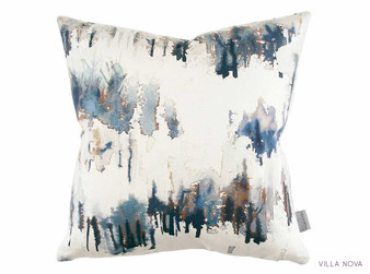 Villa Nova - Norrland Cushion Indigo  | Cushion Fabric - Blue, Floral, Garden, Botantical, Cushion, Dry Clean, Whites, Abstract, Print