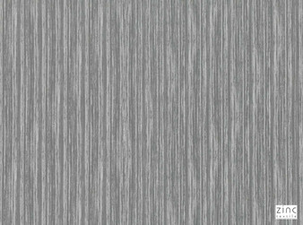 Zinc Textile - Heddon Silver Grey  | Curtain & Upholstery fabric - Grey, Silver, Dry Clean, Abstract, Decorative, Strie, Fibre Blend, Strie