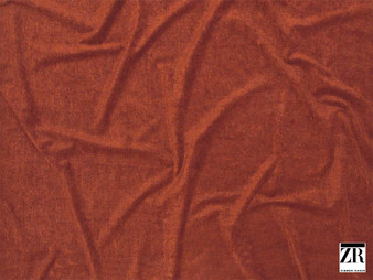 Zimmer and Rohde - Andro - 01927.347  | Upholstery Fabric - Terracotta, Plain, Rust, Fibre Blend, Standard Width