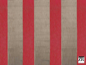 Zimmer and Rohde - Macy - 10628.385    Curtain Fabric - Red, Stripe, Traditional, Railroaded, Wide-Width