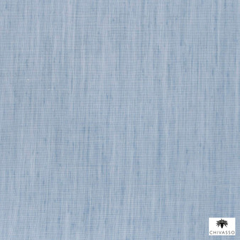 Chivasso - Backdrop - Ch2816 - 050  | Curtain Fabric - Washable, Blue, Railroaded, Wide-Width, Dry Clean, Plain, Strie, Fibre Blend, Strie