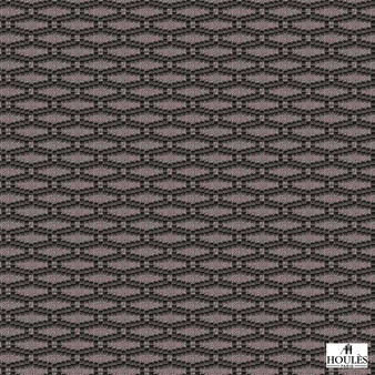 Houles - 72776 Fleuron - 9820  | Curtain & Upholstery fabric - Brown, Contemporary, Honeycomb, Fibre Blend, Standard Width