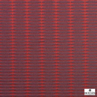 Houles - 72875 Ceylan Fabric - 9580  | Curtain & Upholstery fabric - Red, Contemporary, Standard Width