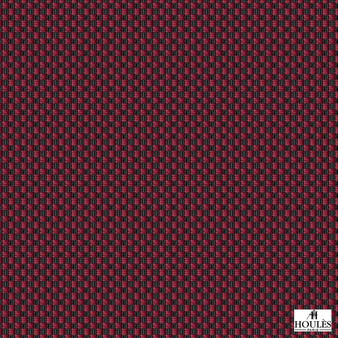 Houles - 72896 Ebene - 9500  | Curtain & Upholstery fabric - Red, Basketweave, Standard Width