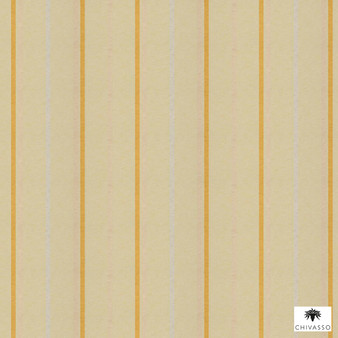 Chivasso - Makebelief - Ch2731-040  | Curtain Fabric - Gold, Yellow, Stripe, Traditional, Railroaded, Wide-Width