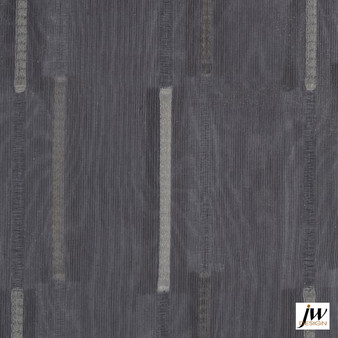 JW Design - Parade Natural Sheer 300cm  | Curtain Sheer Fabric - Washable, Black, Charcoal, Contemporary, Wide-Width, Silver, Modern, Pattern