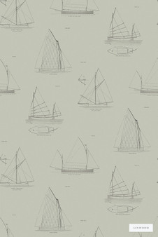 Linwood LW032 2 Biscay  | Wallpaper, Wallcovering - Grey, Beach, Children, Kids, Mid Century Modern, Nautical