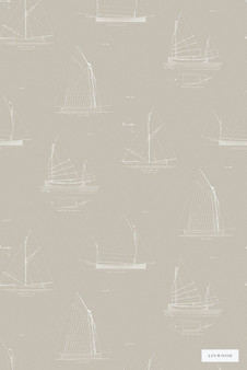 Linwood LW032 3 Cromarty  | Wallpaper, Wallcovering - Beige, Midcentury, Domestic Use, Print, Nautical