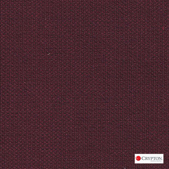 Crypton Pasture Merlot  | Upholstery Fabric - Burgundy, Plain, Synthetic, Commercial Use, Standard Width
