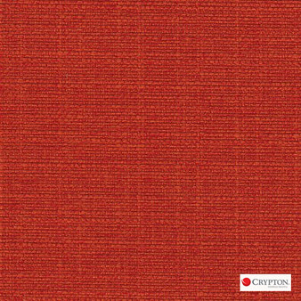 Crypton Sky Geranium  | Upholstery Fabric - Plain, Red, Synthetic, Commercial Use, Standard Width
