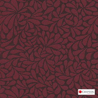 Crypton Twirl Geranium  | Upholstery Fabric - Red, Craftsman, Floral, Garden, Pattern, Synthetic, Commercial Use, Standard Width
