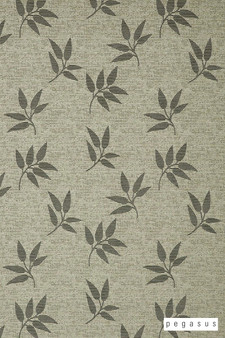 Pegasus Leaf Fall - Pewter    Curtain Fabric - Silver, Deco, Decorative, Floral, Garden, Midcentury, Natural Fibre, Transitional, Washable, Domestic Use, Dry Clean, Natural